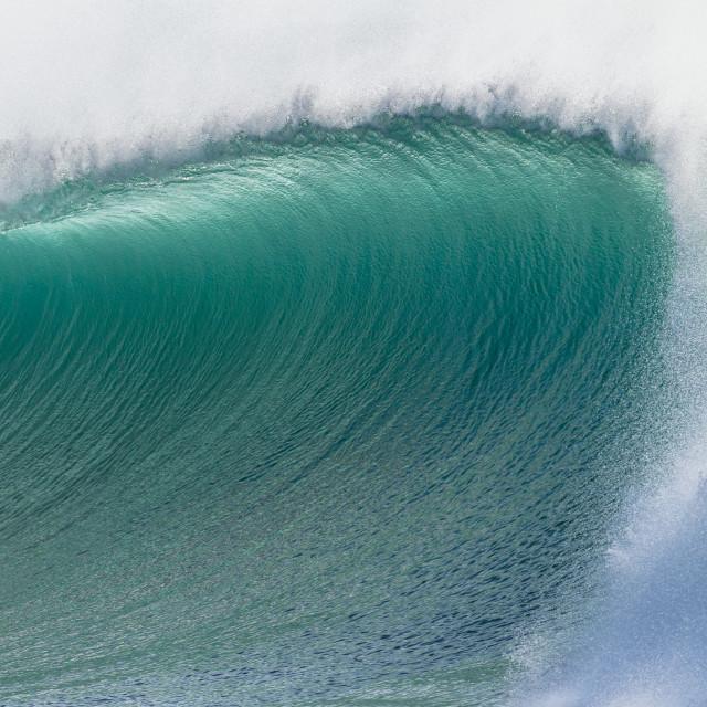 """""""Wave Closeup Detail Crashing"""" stock image"""