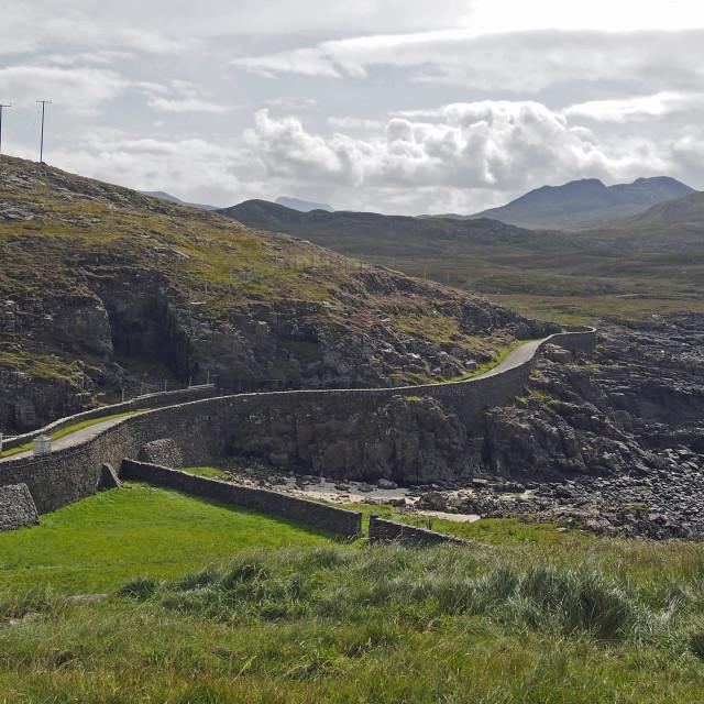 """""""Scottish coastal road"""" stock image"""