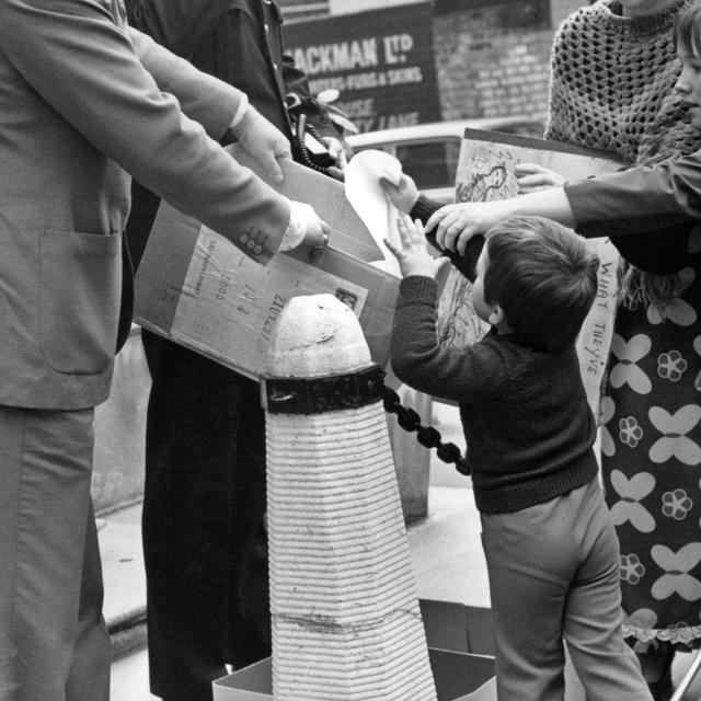 """Seal hunting demonstration, 1978"" stock image"