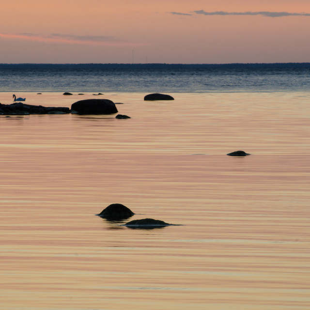 """""""Soft calm bay water"""" stock image"""