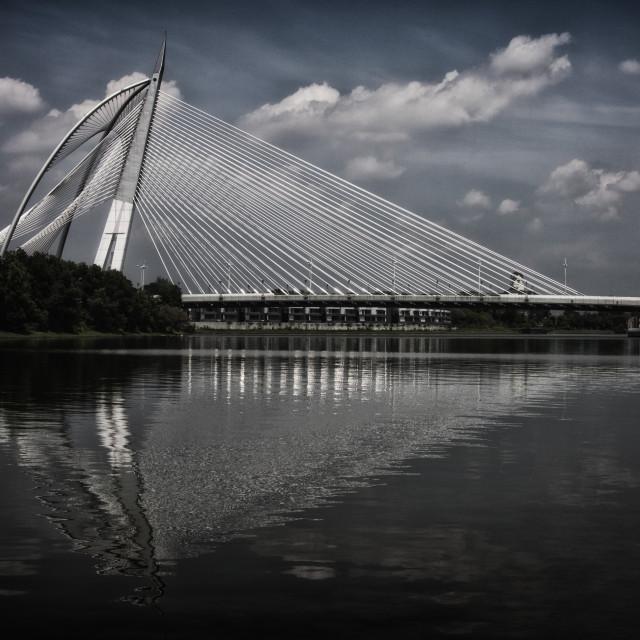 """Seri Wawasan Bridge"" stock image"