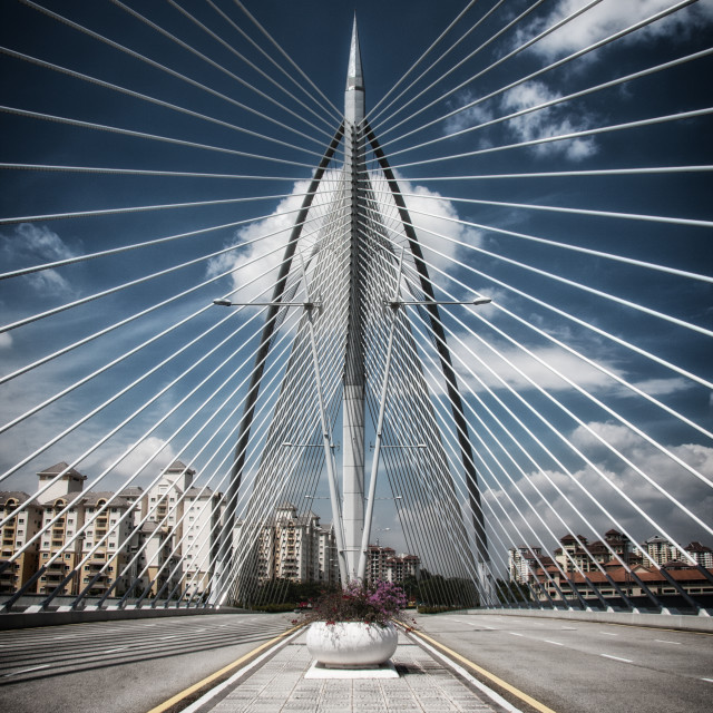 """Seri Wawasan Bridge"" stock image"