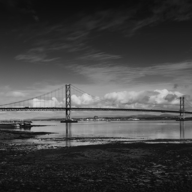 """Forth Road Bridge in Scotland"" stock image"