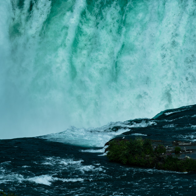 """Niagara Falls close up"" stock image"