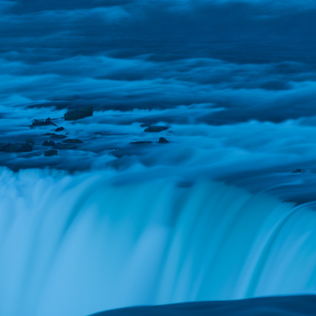 """Niagara Falls twilight"" stock image"