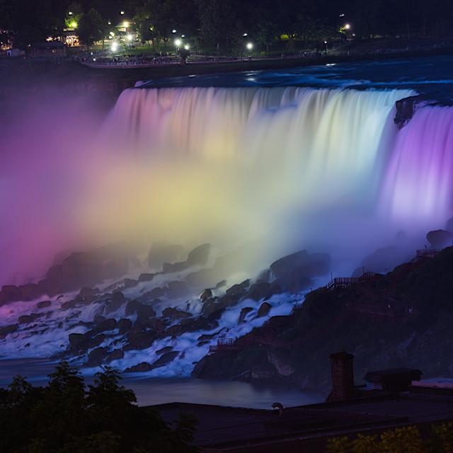 """""""American side Niagara falls"""" stock image"""
