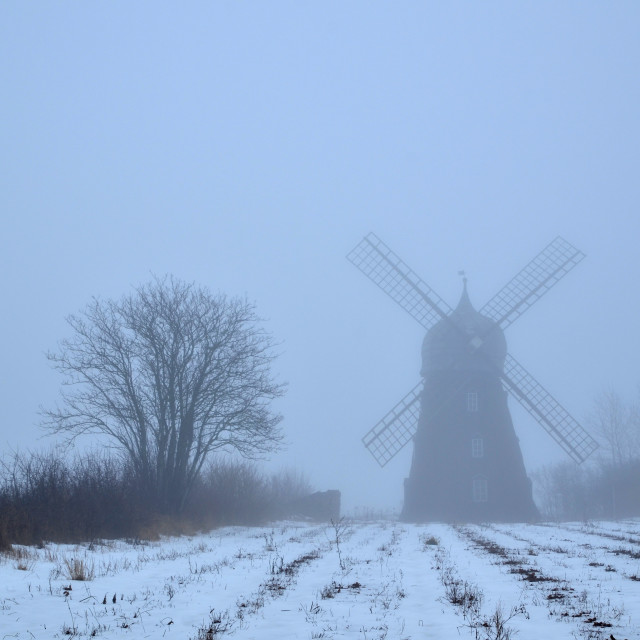 """Spooky windmill"" stock image"