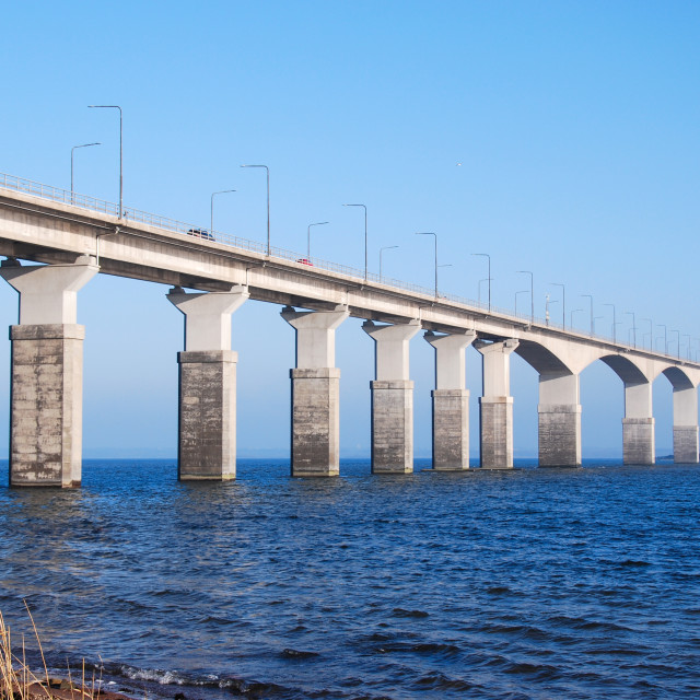 """Sunlit Oland Bridge"" stock image"