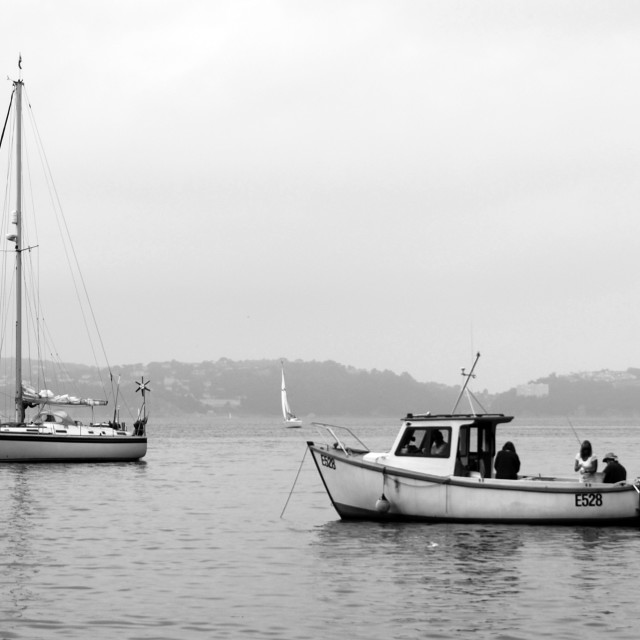 """Boats in Brixham"" stock image"