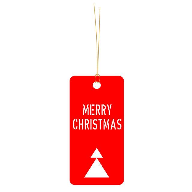 """""""Merry Christmas tag"""" stock image"""