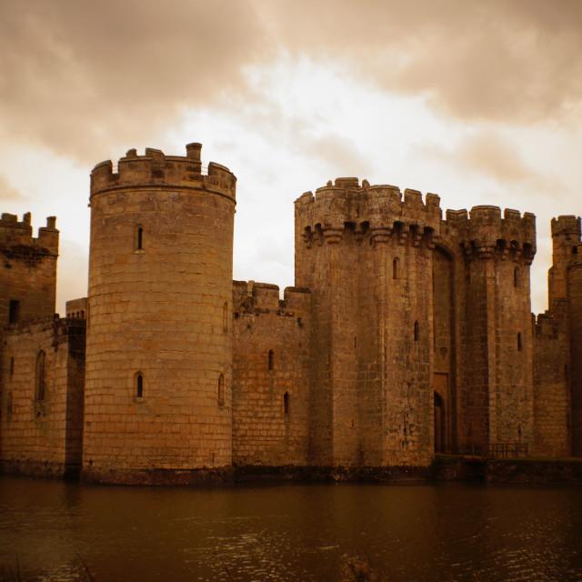 """Bodiam Castle"" stock image"