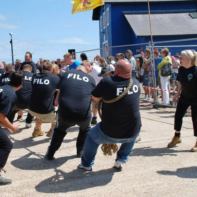 """Tug of War contest, Hastings"" stock image"
