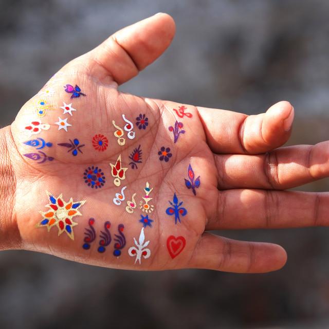 """""""hand tattoo"""" stock image"""