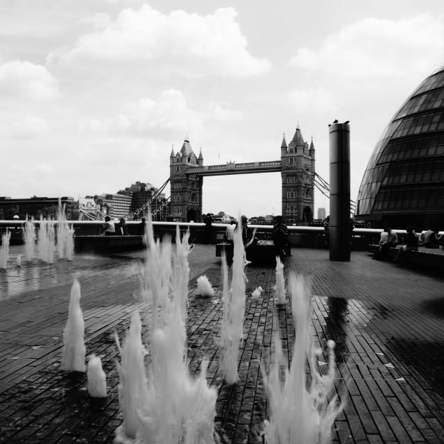 """London Water Burst"" stock image"