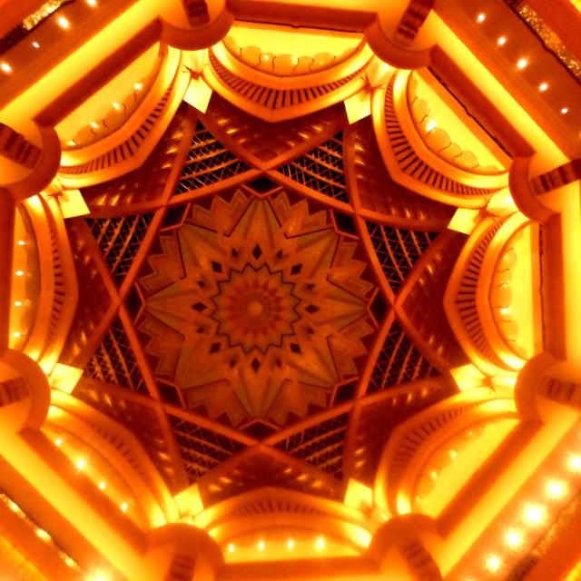"""""""Emirates Palace lobby ceiling, Abu Dhabi"""" stock image"""