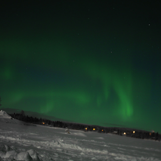 """Northern Lights Lapland."" stock image"
