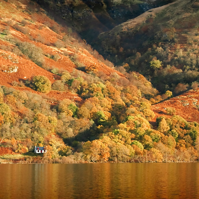 """Autumn bothy"" stock image"