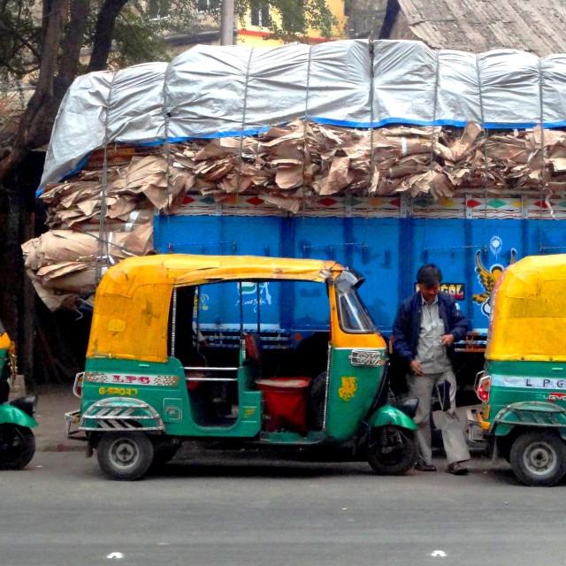 """Kolkata taxi"" stock image"