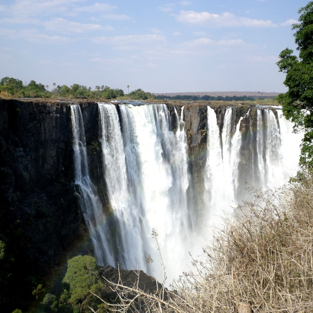 """View of Victoria Falls"" stock image"
