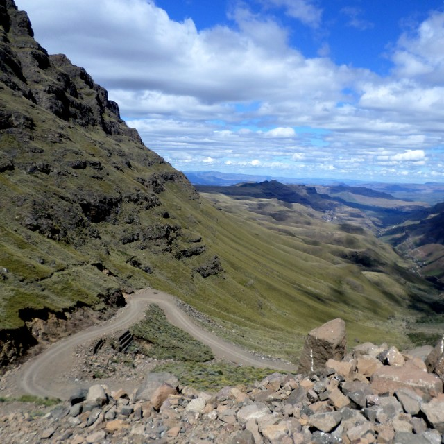 """Sani Pass"" stock image"