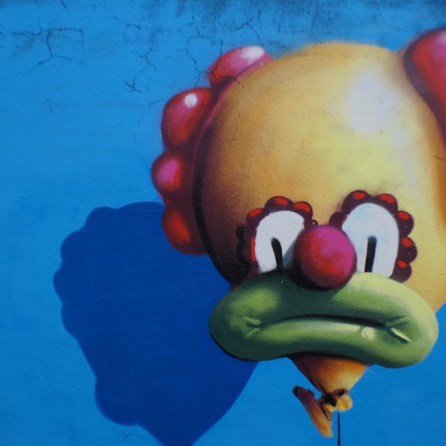 """""""Balloon Clown"""" stock image"""