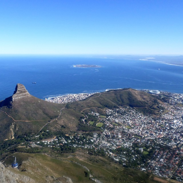 """""""View from Table Mountain, Cape Town"""" stock image"""