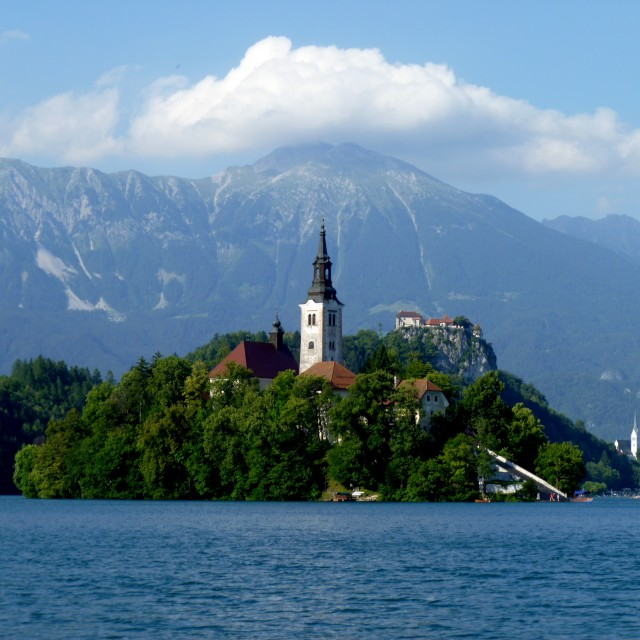 """Lake Bled island"" stock image"