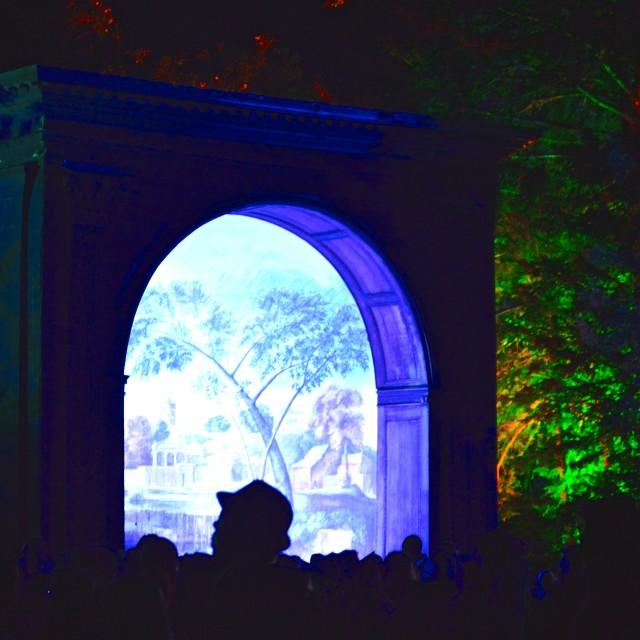 """""""Garden Stage, EOTR Festival 2014"""" stock image"""