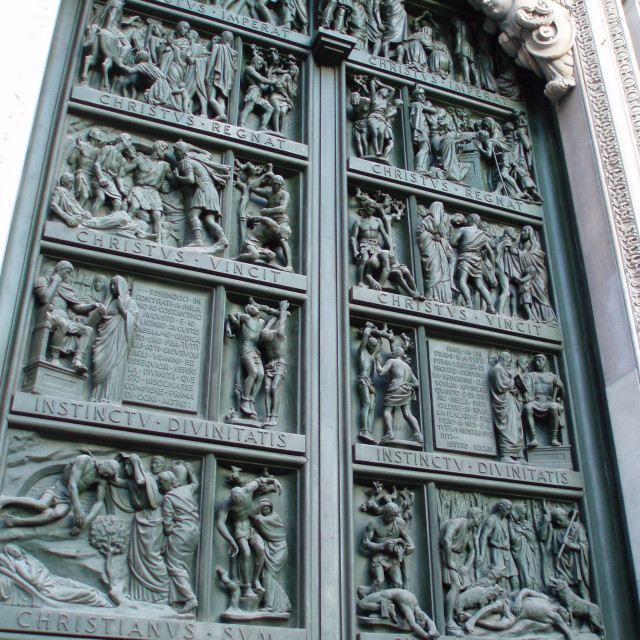 """Duomo doors"" stock image"