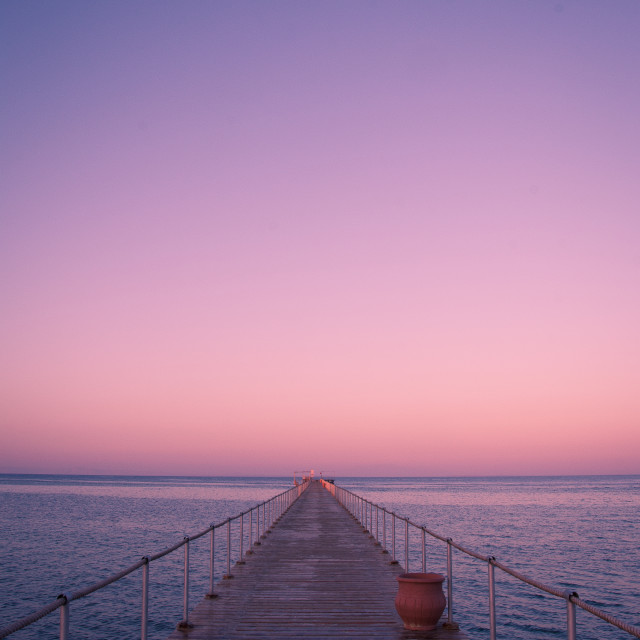 """Jetty Sunrise"" stock image"