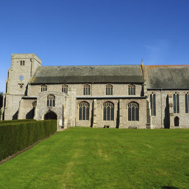 """Village Church, Norfolk"" stock image"