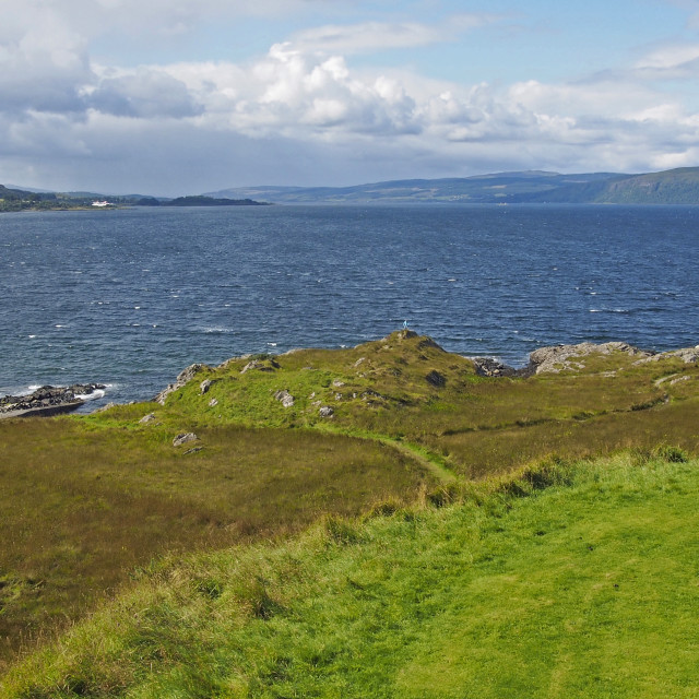 """""""View from Duart castle"""" stock image"""