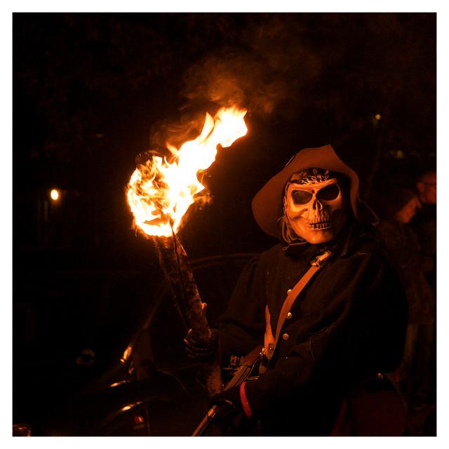 """Robertsbridge Bonfire 2013"" stock image"