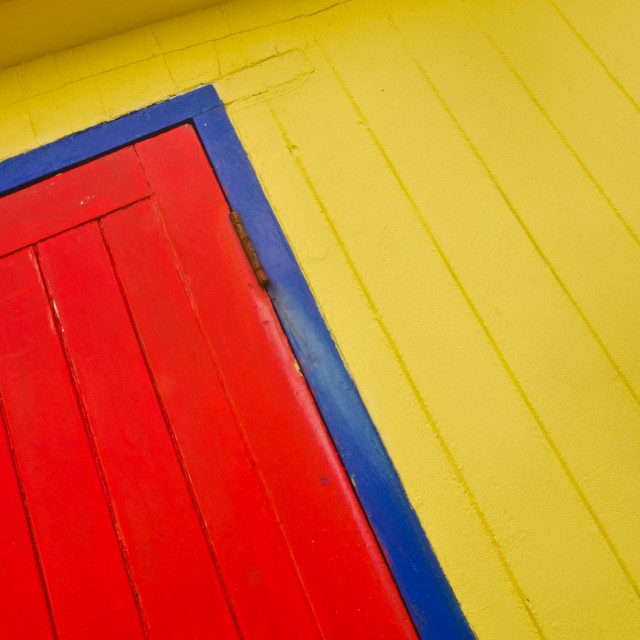 """Yellow, blue and red"" stock image"