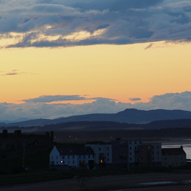 """St. Andrews sunset"" stock image"