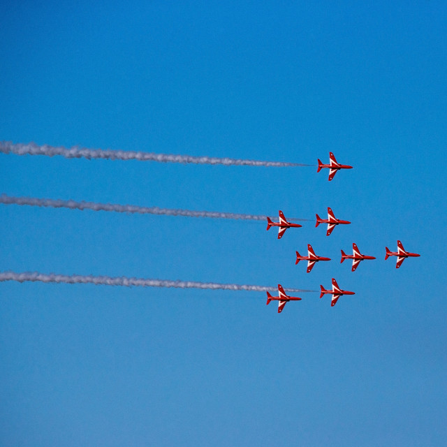 """Red Arrows Display Team"" stock image"