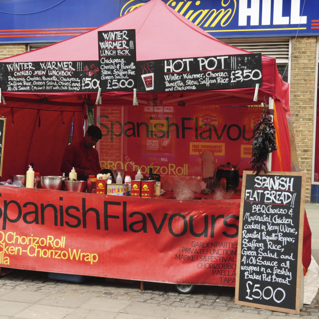 """""""Stall at Exmouth Market, London"""" stock image"""