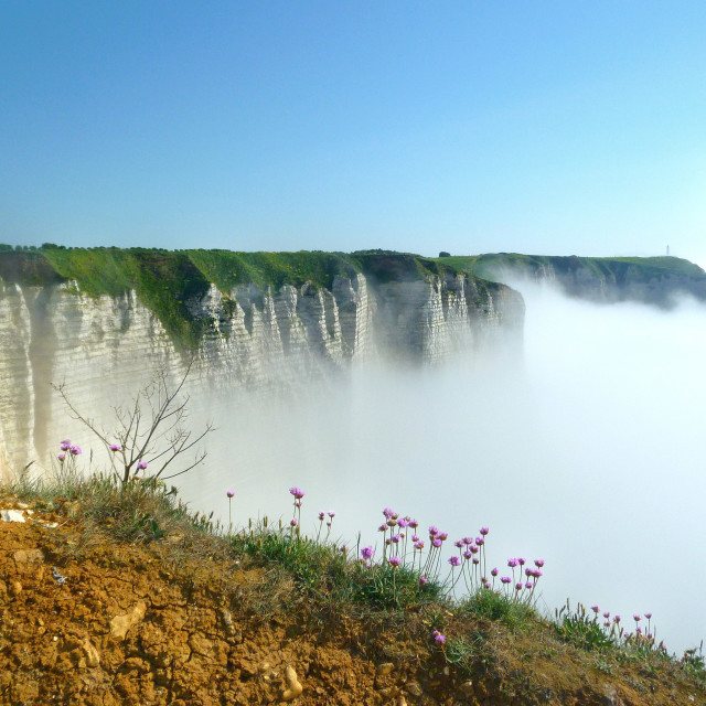 """""""Cliffs in clouds"""" stock image"""