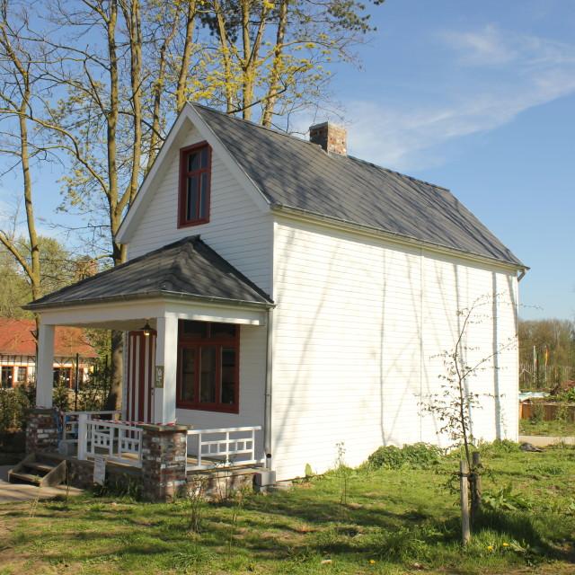 """A little American house in Flanders Fields."" stock image"