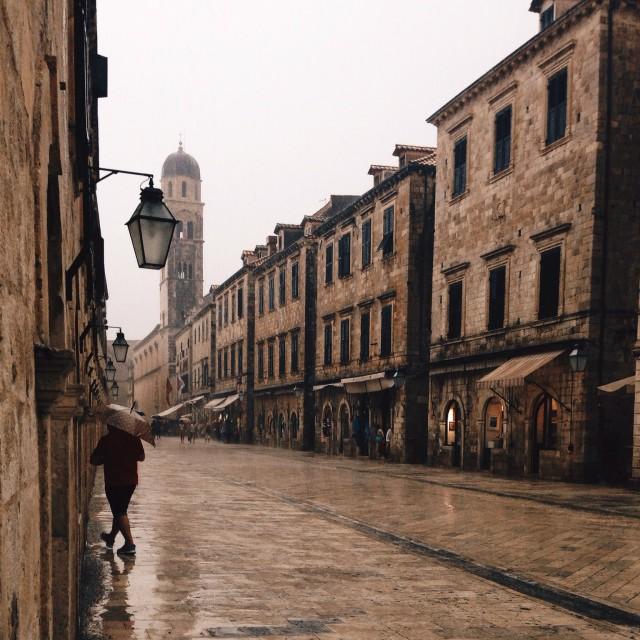 """Rainy Dubrovnik"" stock image"