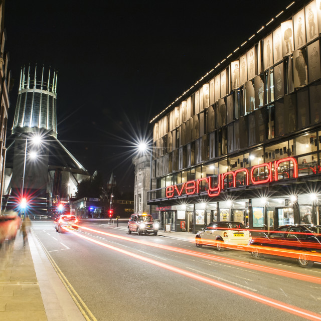 """Everyman Theatre & Metropolitan Cathedral"" stock image"