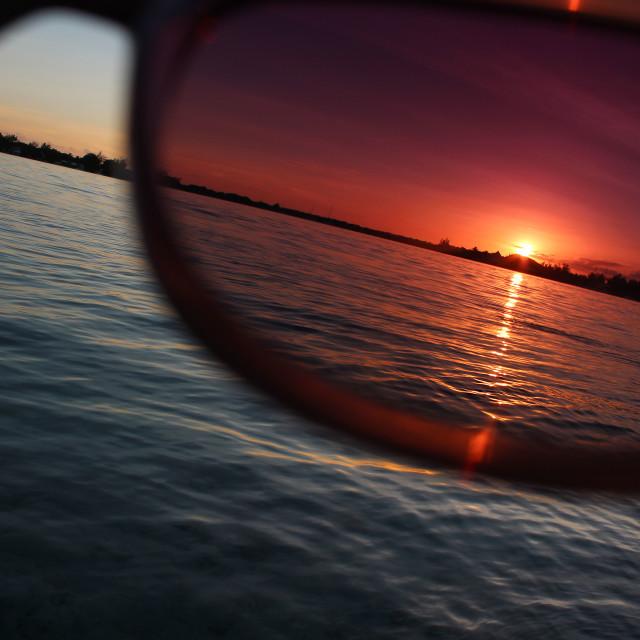 """Sunset glasses"" stock image"