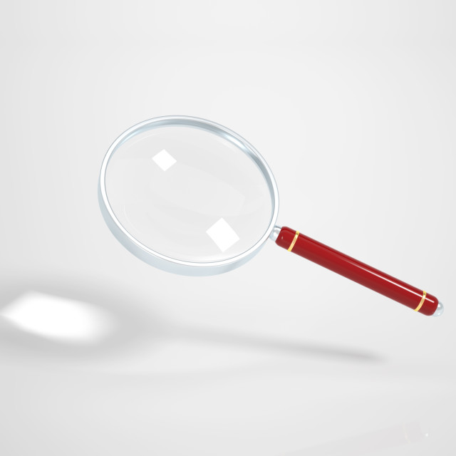"""Magnifying Glass on white Background - Clipping Path included"" stock image"