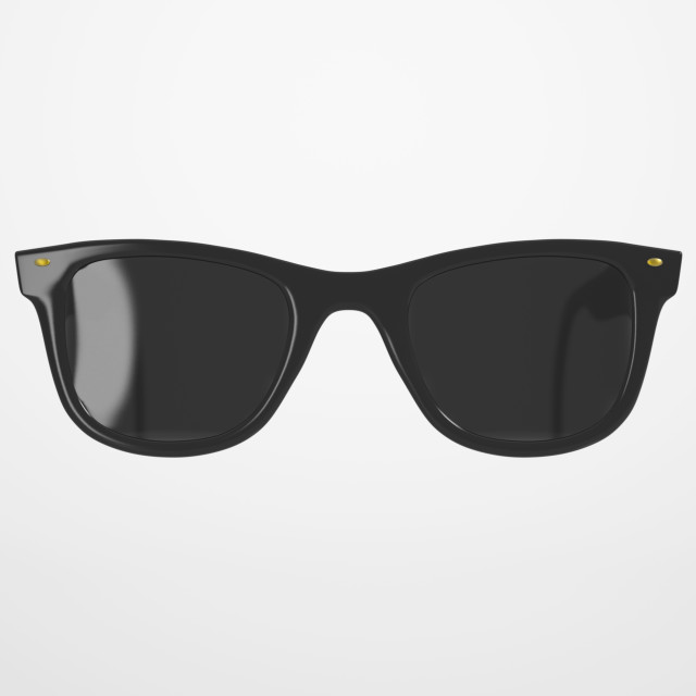 """Black Sunglasses on bright Background"" stock image"
