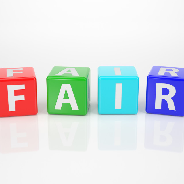 """Fair out of multicolored Letter Dices"" stock image"