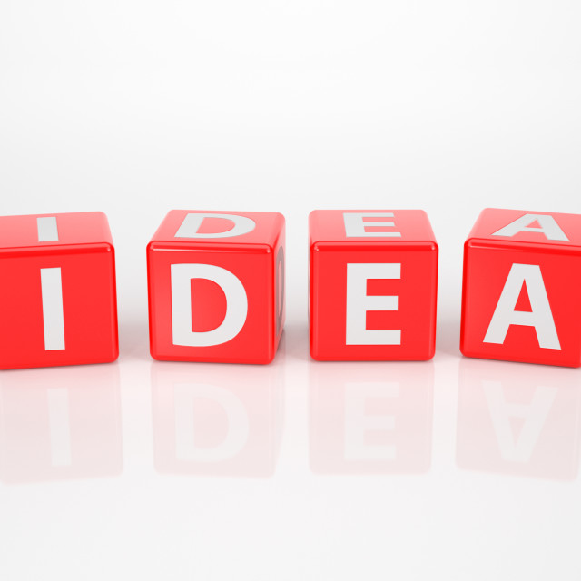 """Idea out of red Letter Dices"" stock image"