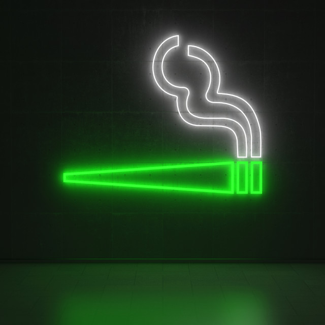"""Cigarette - Series Neon Signs"" stock image"