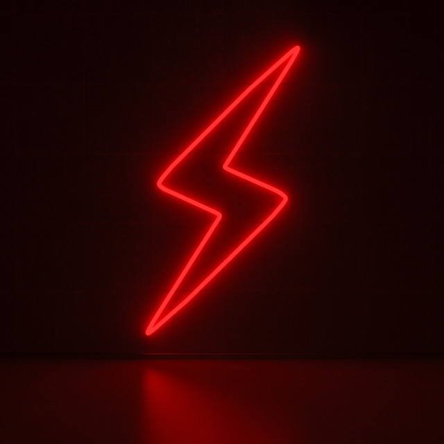 """Flash - Series Neon Signs"" stock image"