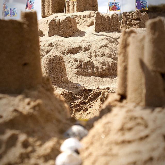 """Sandcastles"" stock image"
