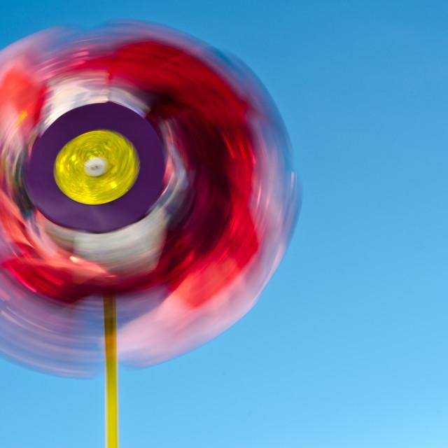 """""""Spinning pinwheel"""" stock image"""